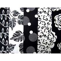 Mono Floral Stripe Cotton