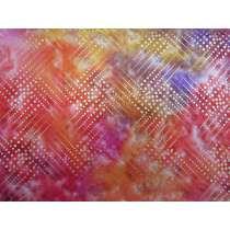 Metallic Gold Batik Cotton- Blazing Star #4131