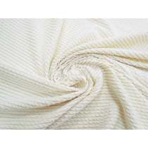 Crinkle Stripe Textured Knit- Cream #4221