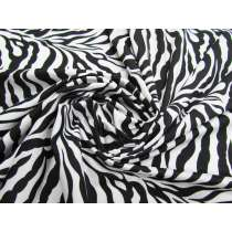 Animal Print Lycra- Zebra (Shiny)