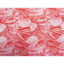 Fan Palm Leaf Cotton- Red #4248