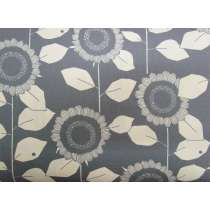 Retro Sunflower Cotton- Grey #4250