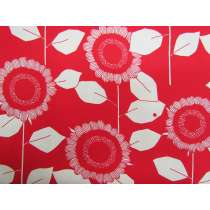 Retro Sunflower Cotton- Red #4249