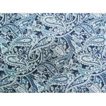 Bountiful Paisley- Navy #4258
