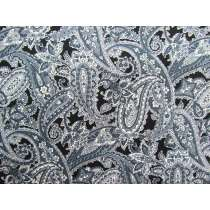 Bountiful Paisley- Black #4255