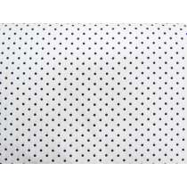 Polka Dot Spot Cotton- Navy on White #4263