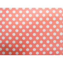 Spot Cotton- White on Peach #4262
