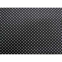Small Spot Cotton- White on Black. #4261