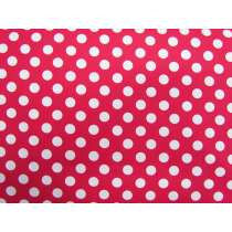 Spot Cotton- White on Hot Pink #4259