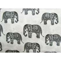 Elephant Paisley Cotton- Ivory #4265