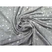 Metallic Foil Star Marle Jersey- Silver #4274