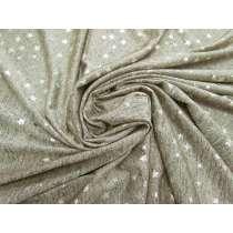 Metallic Foil Star Marle Jersey- Gold #4275