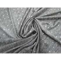 Metallic Foil Spot Marle Jersey- Silver #4276
