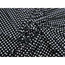 Textured Polka Dot Jersey- Black #4281