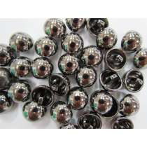 Shiny Domed Fashion Button- Platinum #FB108