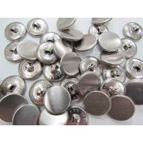 Flat Silver Fashion Button #FB112