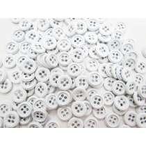 5 for $1- Metal White Fashion Button #FB119