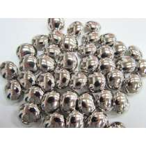 18mm Shiny Silver Domed Fashion Button #FB122