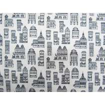 Little Buildings Cotton- White #4315
