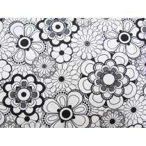 Black & White- Circle Flowers #13