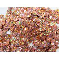24gm Sequin Pack- Holographic Bronze- 8mm #007