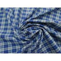 Blue Bird Viscose Blend Check #4338