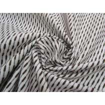 Soft Brocade Stripe Cotton- Rocky Road #2138