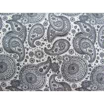 Floral Paisley Cotton- White