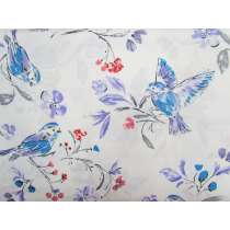 Bird Song Cotton- White