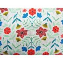Flower Kaleidoscope Cotton- White #PW1089