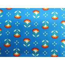 Cheerful Tulip Cotton- Blue #PW1091