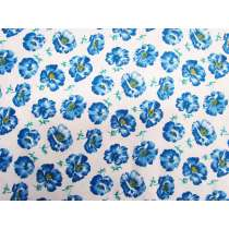 Charming Floral Cotton- Blue #PW1116