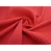 Sea Foam Jacquard Spandex- Red #4359