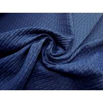 Sea Foam Jacquard Spandex- Navy #4360