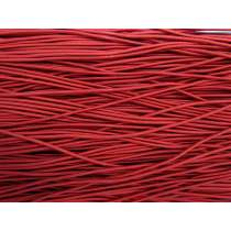 2mm Round Elastic- Ruby Red #1021M