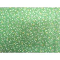Simple Floral Cotton- Green #PW1078