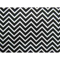 Black & White Chevron Cotton #PW1099
