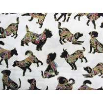 Dog On It Cotton- Small Multi Dog- White #4397