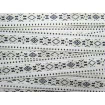 Folk Fairytale Brocade Ribbon Trim- Black/White #068