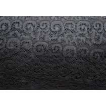 Ancient Scrolls Stretch Lace- Black #110- 65mm