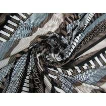 Coffee Stripe Textured Jersey #4461