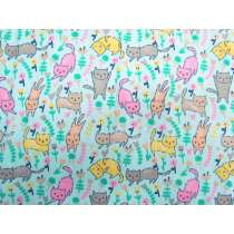 Garden Kitty Cotton- Blue #PW1135