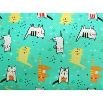 Cool Cat Cotton- Mint #PW1132