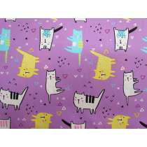 Cool Cat Cotton- Purple #PW1131