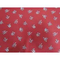 Liberty Cotton- Abbeywood- Crimson- Flower Show Winter Collection