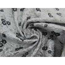 Embossed Blossom Brocade- Black Ice #4482