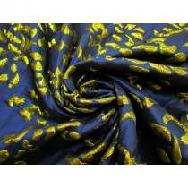 Make Tracks Jacquard- Gold / Navy #4489