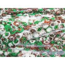 50mm Green Garden Rosette Ribbon Trim #163