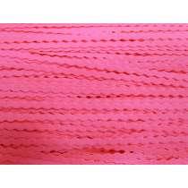 6mm Ric Rac Elastic- Fluro Pink #172