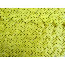 20mm Yellow Polka Dot Satin Ric Rac Trim #171